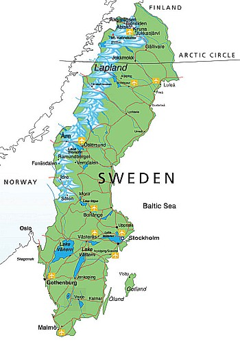 Sweden Ferry - Sweden map ystad